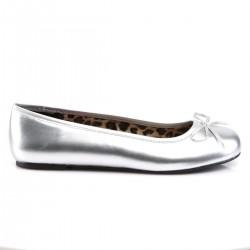 Pink Label Anna 01 Ballet Flat Shoe Silver