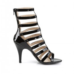Pleaser Dream 438 Strappy Ankle Boot Sandal Black Patent