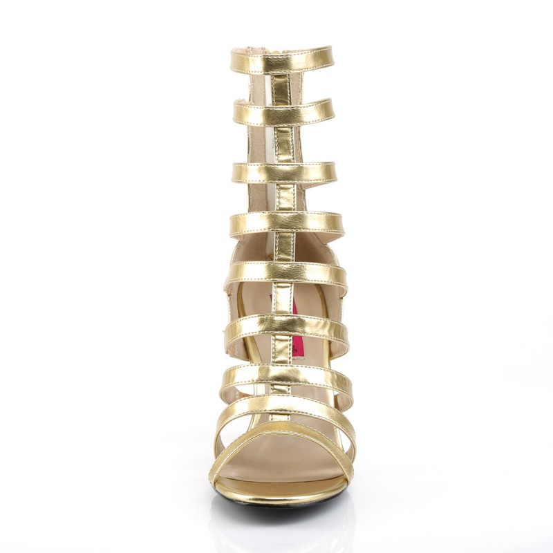 Pink Label Dream 438 Strappy Ankle Boot Sandal Gold