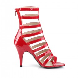 Pink Label Dream 438 Strappy Ankle Boot Sandal Red Patent