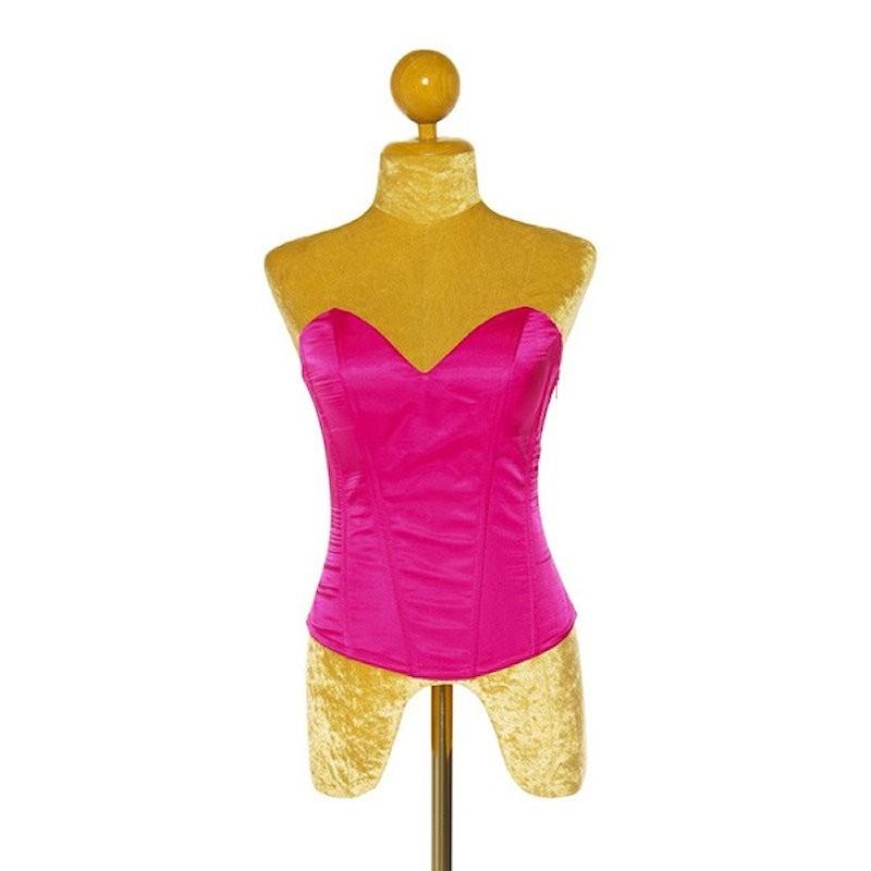 Custom Order Satin Corset Hot Pink