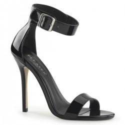 Pleaser Amuse 10 Sandal Black Patent