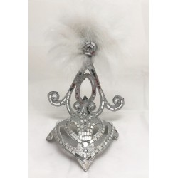 Mini Showgirl Feathered Headpiece White