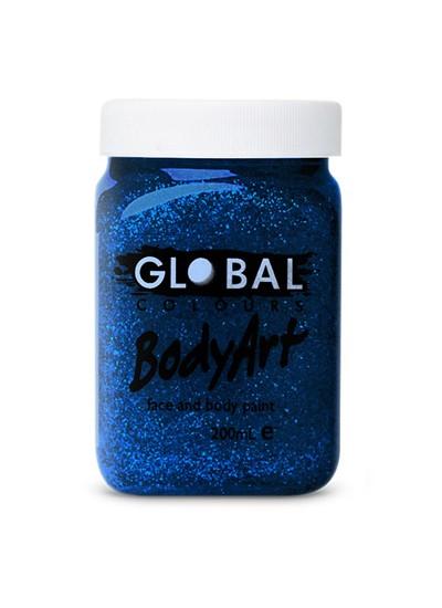 Global Body Paint Blue Glitter