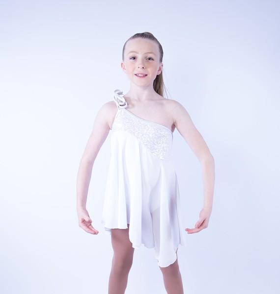 Tangled Waters Chiffon Dress White
