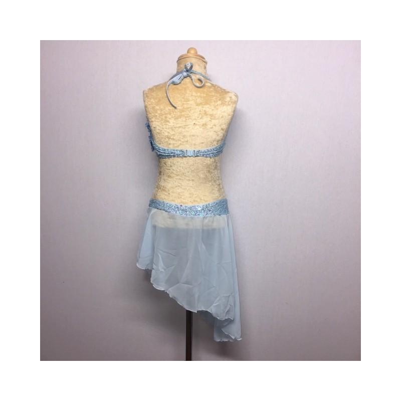 Candy Flower Chiffon Dress Light Blue