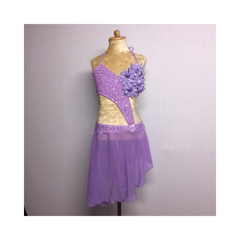 Candy Flower Chiffon Dress Light Purple