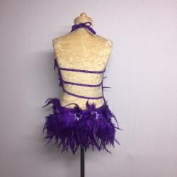 Lucy Flower Leotard Dark Purple