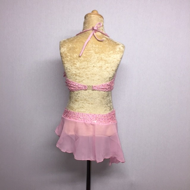 Candy Flower Chiffon Dress Light Pink