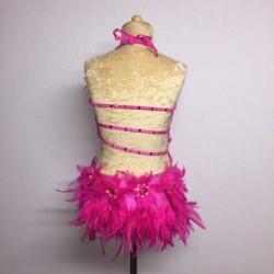 Lucy Flower Leotard Hot Pink
