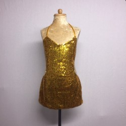 Kiki Sequin Dress - Gold