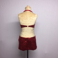 Low back Kiki Sequin Dress Red