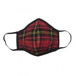 Fashion Mask - Red Tartan