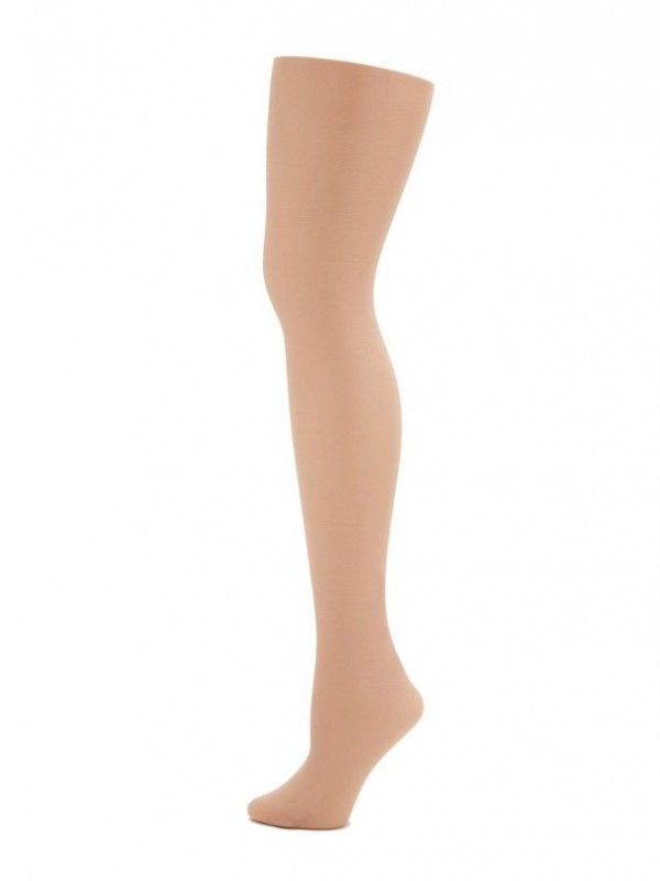 Capezio Seamless Ultra Shimmery Footed Tight Sun Tan