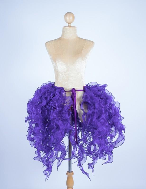 Organza Bustle Seaweed Skirt Dark Purple