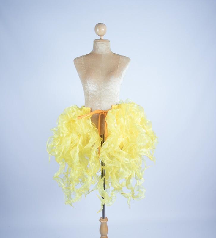 Organza Bustle Seaweed Skirt Yellow