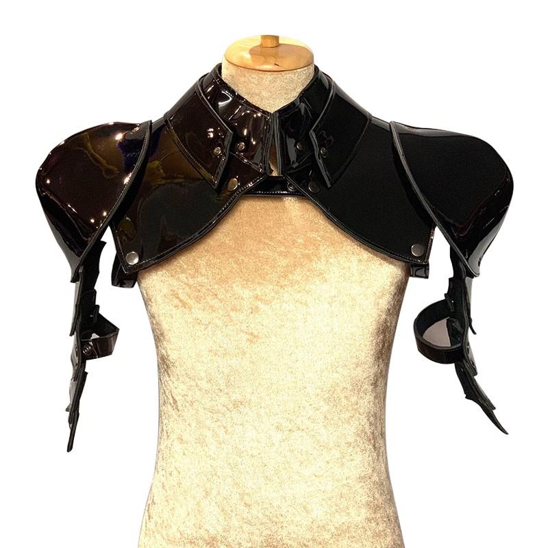 Patent Black Gladiator Deluxe Shoulder Piece