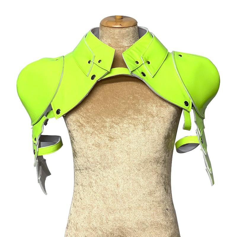 Neon Yellow Gladiator Deluxe Shoulder Piece