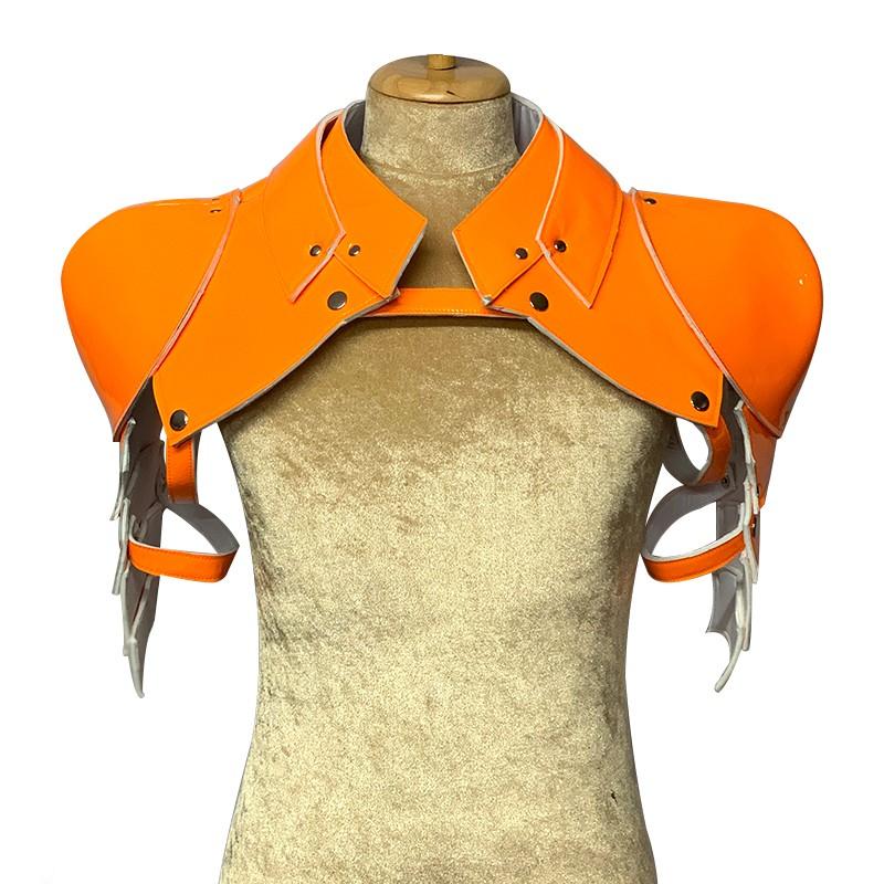 Neon Orange Gladiator Deluxe Shoulder Piece