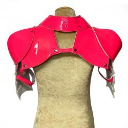 Neon Pink Gladiator Deluxe Shoulder Piece