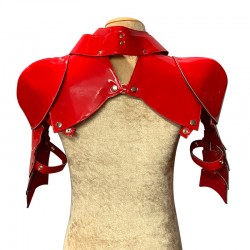 Patent Red Gladiator Deluxe Shoulder Piece
