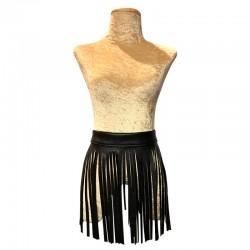 Vinyl Tassle Skirt - Black