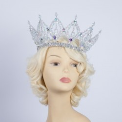 Deluxe Plastic Crown - Clear