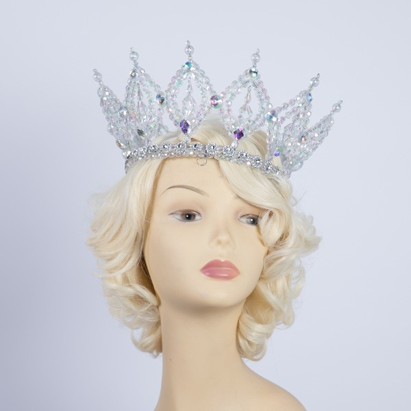 Deluxe Plastic Crown Clear