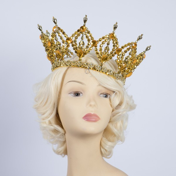 Deluxe Plastic Crown Gold
