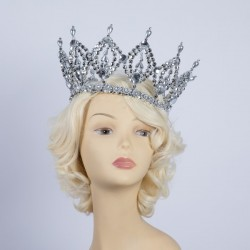 Deluxe Plastic Crown - Silver
