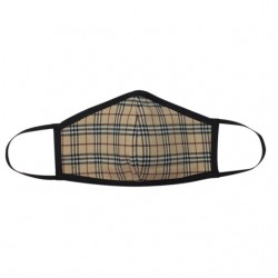 Fashion Mask - Beige Tartan