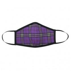 Fashion Mask - Purple Tartan