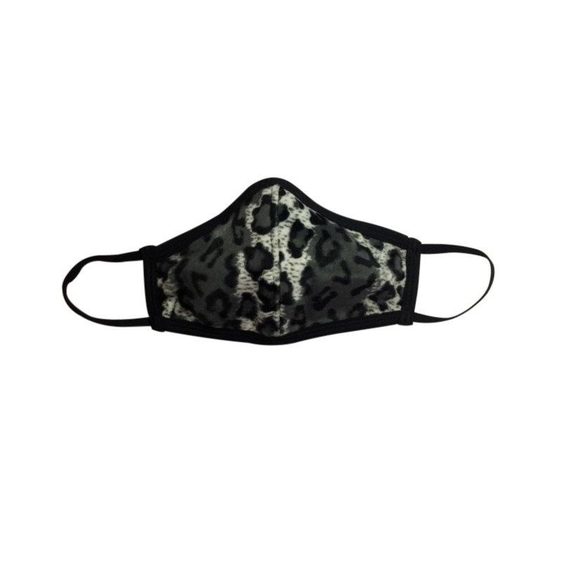 Fashion Face Mask - Silver Leopard