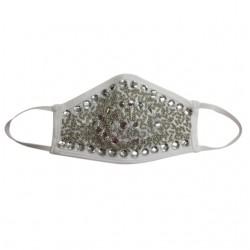 Fashion Mask - Diamanté Silver