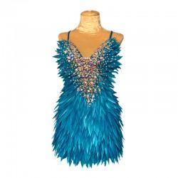 Aqua Deluxe Diamanté Feather Dress