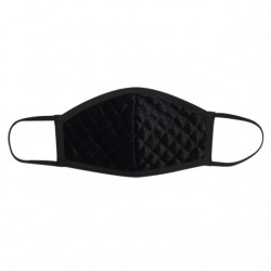Fashion Mask - Black Quilted