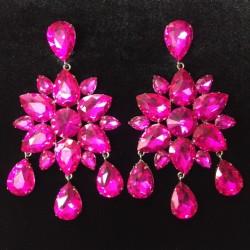 Hot Pink Crystal Diamante...