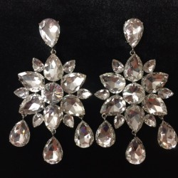 Clear Crystal Diamante Dangle Earring