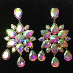 Aurora Borealis Crystal Diamante Dangle Earring