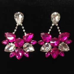 Boat Earring - Hot Pink and...