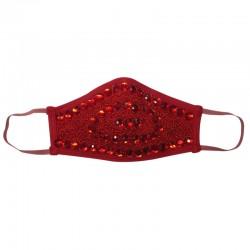 Fashion Mask - Diamanté Red