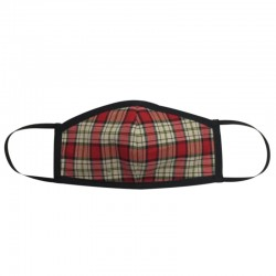 Fashion Mask - Red and White Tartan