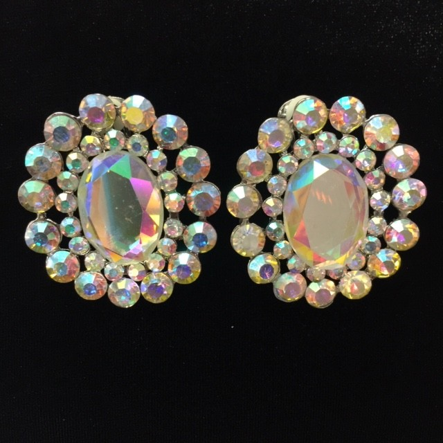 Aurora Borealis Crystal Diamante Earring S22