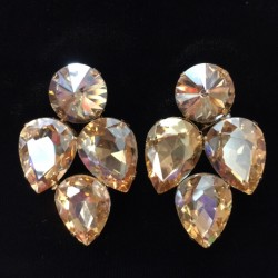 Gold Crystal Earring S18