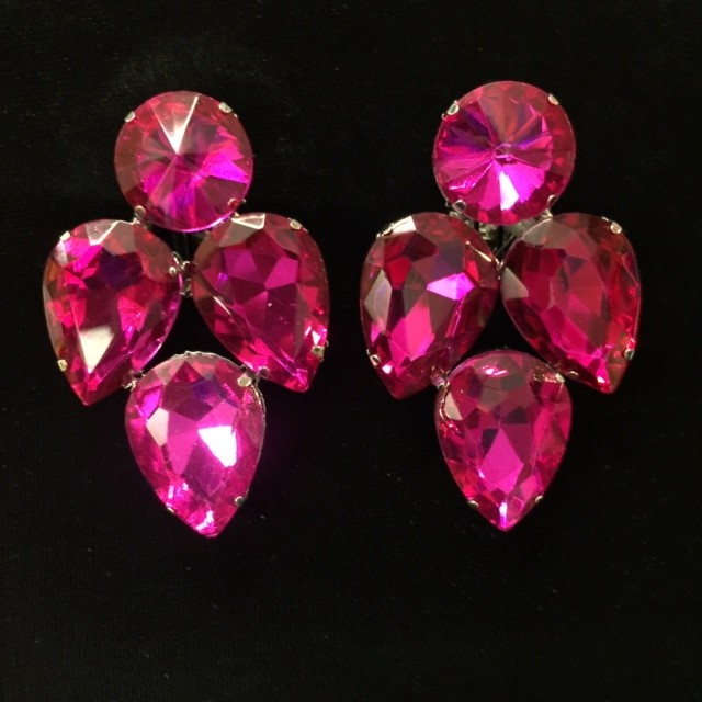 Hot Pink Crystal Earring S16