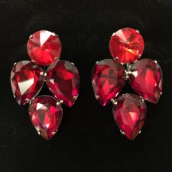 S15 Red Crystal Earring