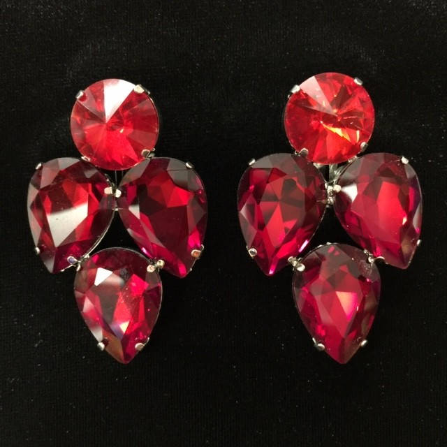 Red Crystal Earring S15