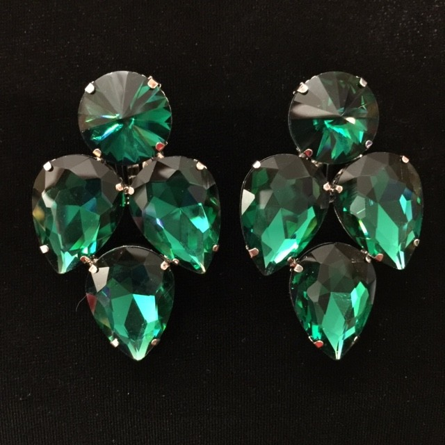 Emerald Green Crystal Earring S20