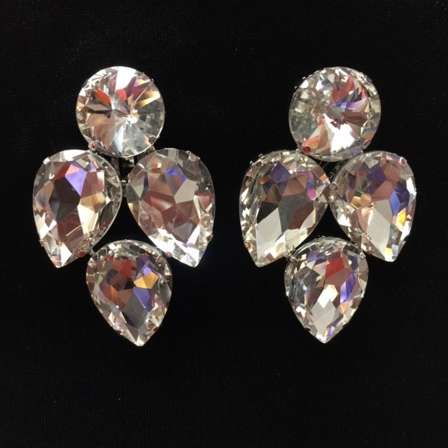 Clear Crystal Diamante Earring S13
