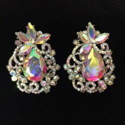 Aurora Borealis Crystal Diamante Earring S12